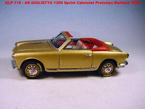 GULP MODEL Alfa Romeo GIULIETTA SPRINT CABRIO PROTOTIPO BERTONE 1/43 NO ABC MR