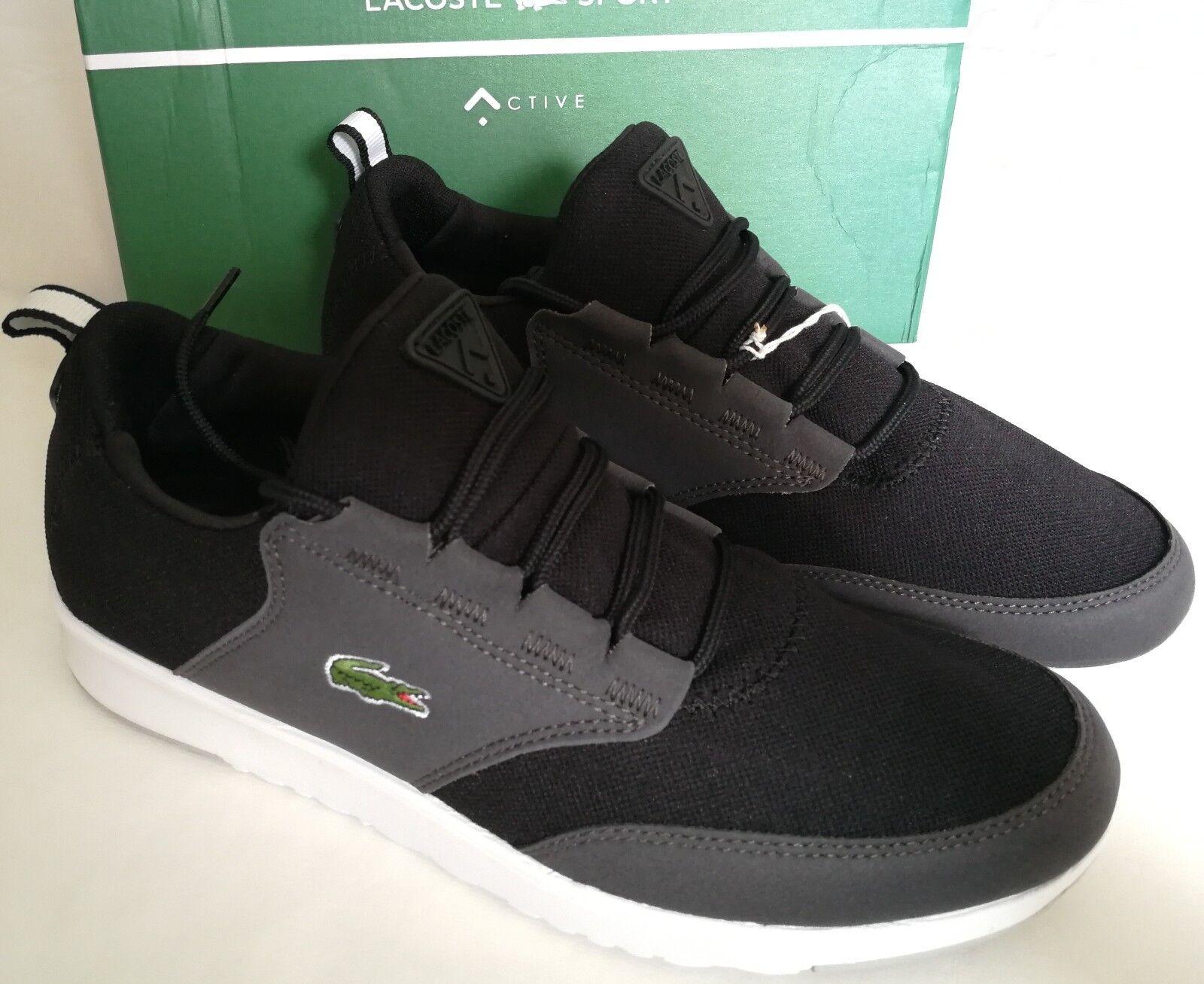 Lacoste Schuhe Light PIQ SPM BLK/ (UK BLK (UK BLK/ TXT/ SYN Schwarz Grau 42 823636