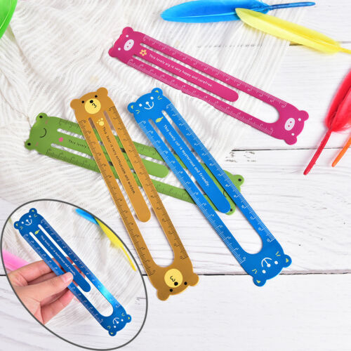 Animal Cartoon Metal Paper Clip Ruler Office School Supplies Stationery For Kid·