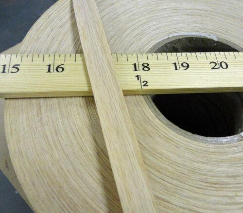 """Red Oak wood veneer edgebanding 3//4/"""" x 25/' feet with preglued hot melt adhesive"""