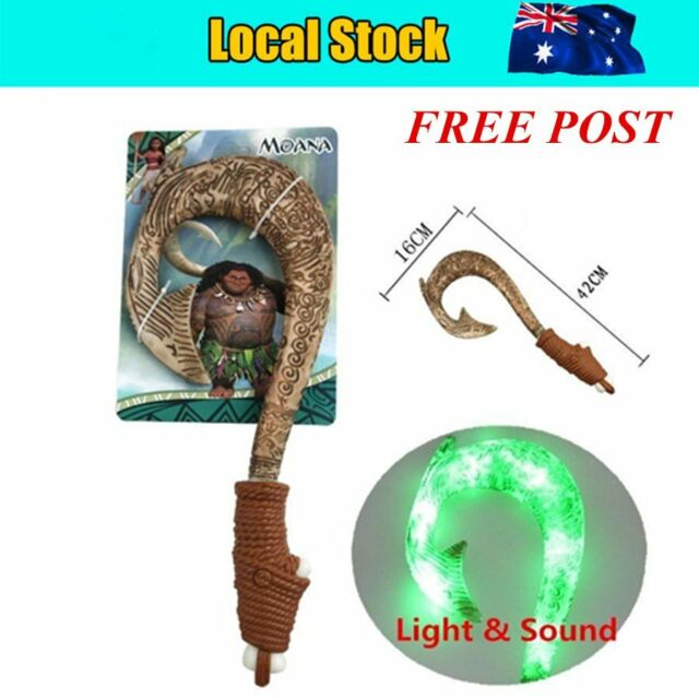 Maui Light-Up Sound Fish Hook Moana Exquisite Toys for kids birthday Gifts uC