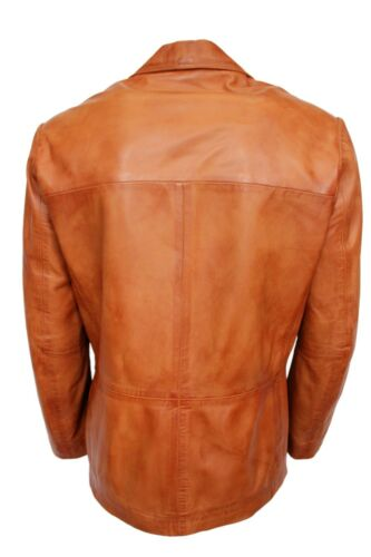 Coat Blazer Fit Nappa Men's Tan Classic Tailored Real Italian New Jacket Leather qnfB7Pwn