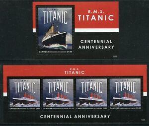 Saint-vincent Canouan 2013 Titanic Bateau Catastrophe Ship Navi Bateaux Neuf Sans Charnière-ophe Ship Navi Bateaux Mnhafficher Le Titre D'origine