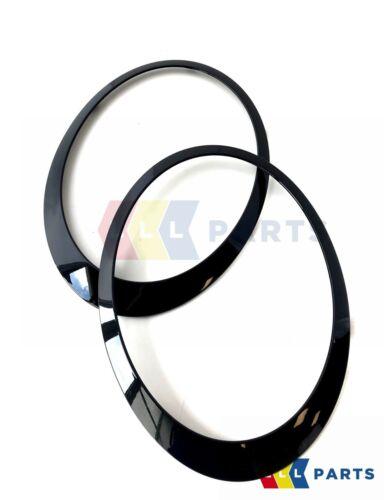 MINI Nuovo Originale R55 R56 R57 R58 JCW JET BLACK HEADLIGHT Trim Anello Set Coppia