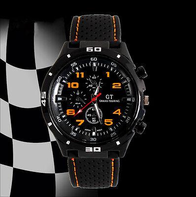 Montre Sport Homme Quartz Analogique Bracelet Silicone Grand Touring Pilote IDXX