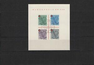 Franzoesische-Zone-Baden-1949-DRK-Bl-2-Type-I-gestempelt-034-Zell-034-mit-Attest