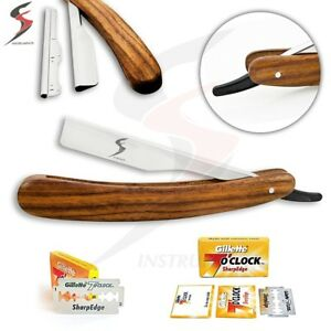 SS-Barber-Straight-Edge-Cut-Throat-Shaving-Razor-Rasoirs-Rasoi-Salon-10-Blades