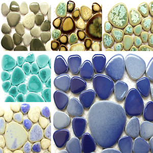 Sheet Various Colours California Pebble Mosaic tiles for arts and crafts