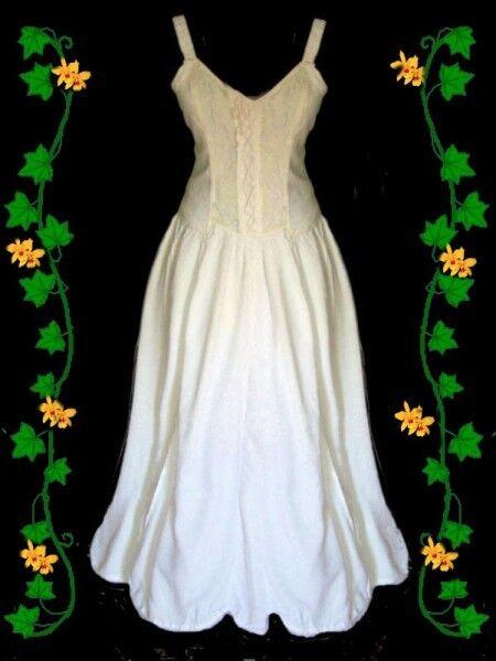 Gothic Mittelalter LARP Kleid Melinda weiß
