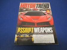 Motor Trend Magazine, May 2013, Supercar Arsenal Reloaded, Assault Weapons