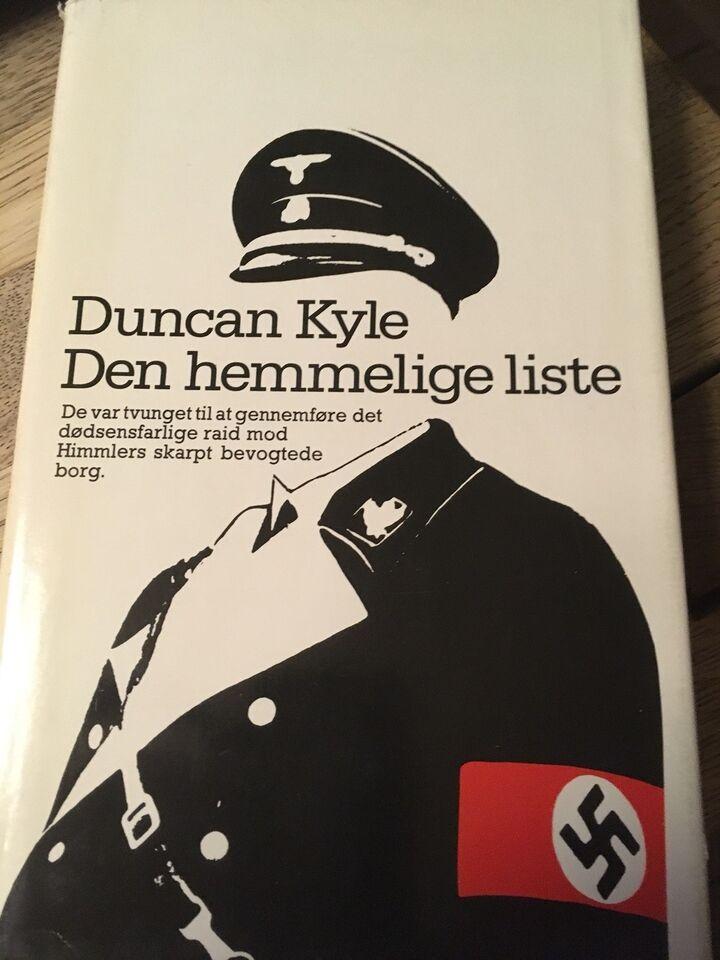 Den hemmelige liste, Duncan Kyle, genre: krimi og spænding