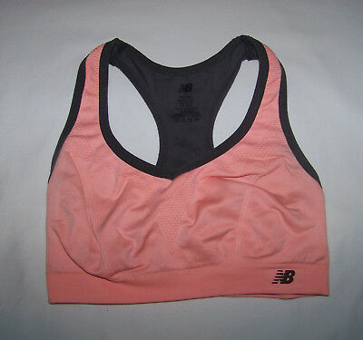 ee1c25632eb51 Details about New Balance Women's Racerback Athletic Sports Bra S Small Pink