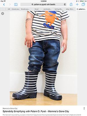 BABY PYRET CLASSIC STRIPE RAIN BOOTS POLARN O