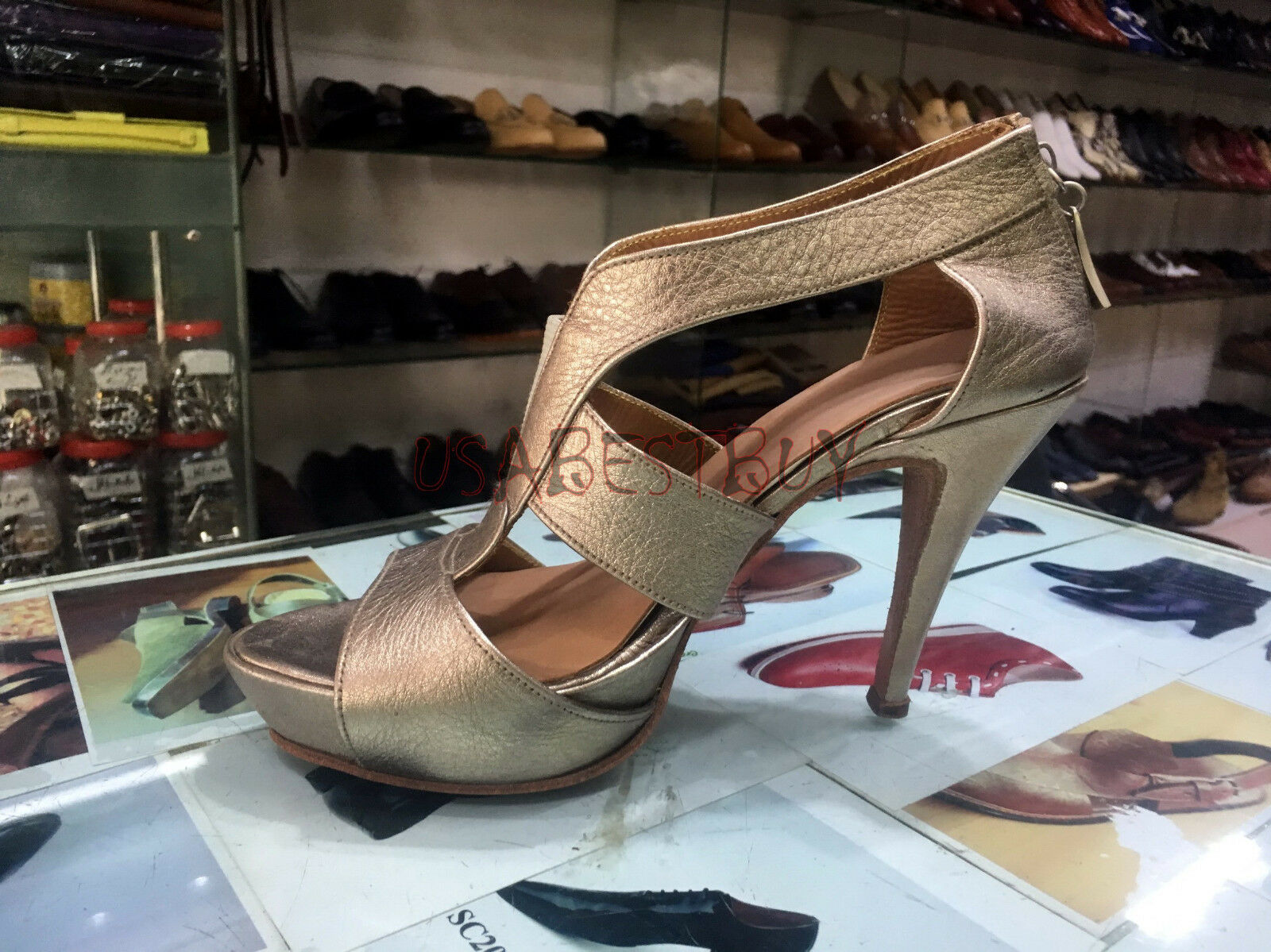 New Handmade donna donna donna Elegant oroen Superb Style Leather Sandal with Leather Sole d1348c