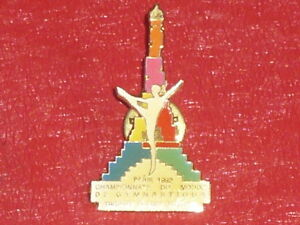 Coll-J-DOMARD-SPORT-WORLD-CHAMPIONSHIP-GYMNASTIQUE-PARIS-1992-PIN-Off-Eiffel-T
