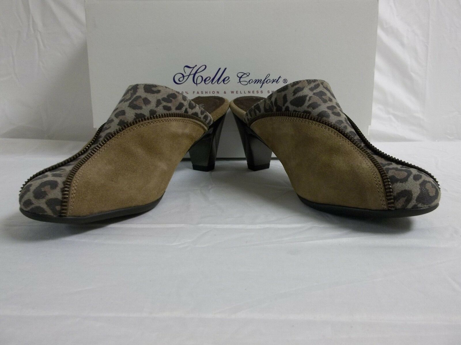 Helle 6 Comfort EU 37 US 6 Helle 6.5 Emily Cognac Leder Heels Clogs New Damenschuhe Schuhes a349e6