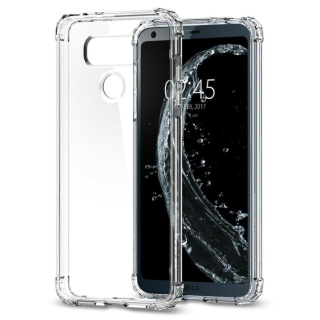 new product a2b3a 3921c Spigen Crystal Shell LG G6 Case With Clear Back Panel and Reinforced  Corners on