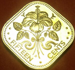 Coins 1978 Rare Proof~6,931 Minted~triangle Coin Reasonable Bahamas 15 Cents