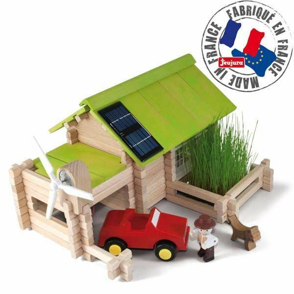 Villa, ecological house 145 pieces construction game solid wood game bauspiel