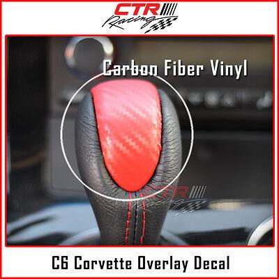 C6 Corvette Dash Cluster Switch Trim Overlay Decal Red Carbon Fiber 2005-2013