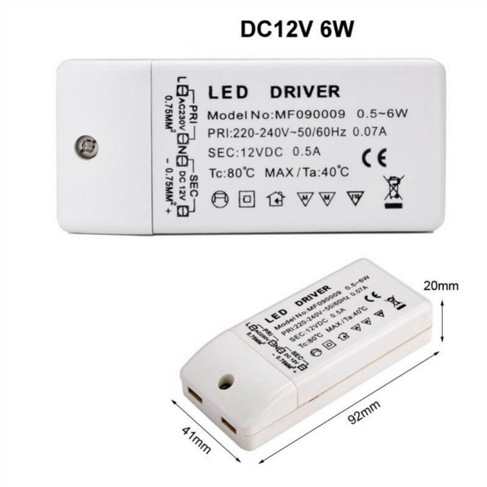 nEU 300mA 1W 12W 24W 36W Transformator LED Driver Netzteil Trafo Teile nett.