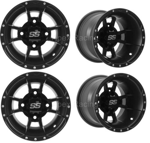 ITP SS112 Rims Wheels Yamaha Raptor 700 Set 4 Front /& Rear Black 2006-2019 NEW