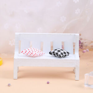 1-12-Dollhouse-Miniature-Wooden-Bench-Cushions-Doll-House-Home-Furniture-De-Dz