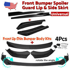 Glossy Black Front Bumper Lip Spoiler Rear Side Skirt Splitter Kit For Lexus Fits 2013 Honda Civic Si