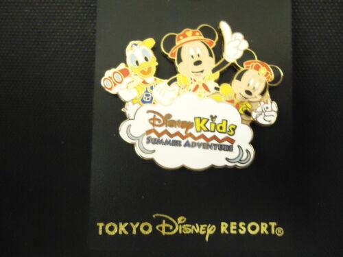 DISNEY TDR TOKYO DISNEY RESORT DISNEY KIDS SUMMER ADVENTURE PIN ON CARD