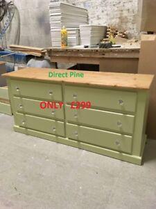 Image Is Loading Shaftesbury Range Furniture 6 Drawer Chest Green Wax