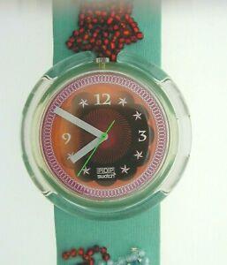Pop-Swatch-Watch-PWZ106-Soupe-De-Poisson-watch-Unused-with-special-case