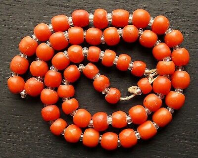 COLLIER CORAIL ROUGE perles 5 mm-REIKI