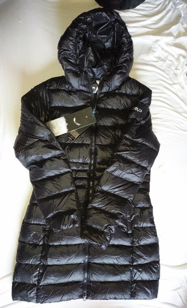 CMP Daunenmantel Winter Daunenjackl 34 XS 164 schwarz schwarz warm WOW leicht NEU