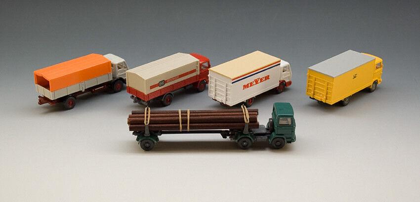 Wiking 5 x mercedes camiones camiones camiones transportadores probablemente para 1980 32b891