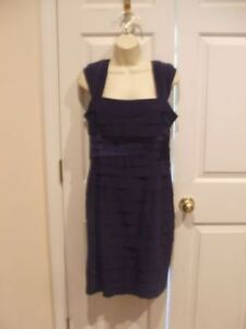 NWT-138-JONES-OF-NEW-YORK-TIERED-OCCASION-MIDNIGHT-ORCHID-DRESS-SIZE-8