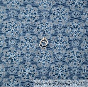 BonEful-FABRIC-FQ-Cotton-Quilt-Blue-Cowgirl-Country-Texas-Star-Lace-Damask-Toile