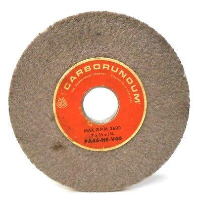 "3/"" X 3//4/"" X 1//2/"" CARBORUNDUM GRINDING WHEEL AA60 K5 V40 8,276 RPM"