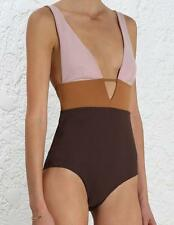 ZIMMERMANN CHROMA COLOUR BLOCK SWIMSUIT UK 12