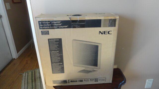 "NEC LCD92VXM AccuSync 19"" LCD Monitor Flat Front Screen NIB"