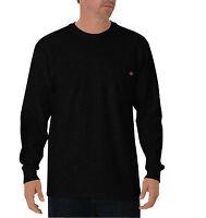 Dickies Men's Long Sleeve Heavyweight Crew Neck Tee Shirt W/ Pocket Wl450