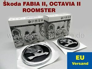 2x-NEU-SKODA-Emblem-Logo-fur-Skoda-OCTAVIA-II-FABIA-II-ROOMSTER-V-H