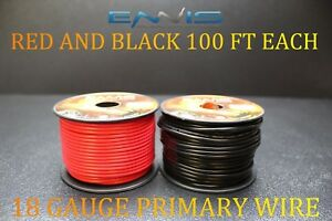 18-GAUGE-WIRE-200-FT-ENNIS-ELECTRONICS-100-RED-100-BLACK-PRIMARY-AWG-COPPER-CLAD