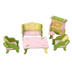 34Pcs 3D DIY Muebles de madera Modelo Niños Jugar Juguetes Regalo de Navidad