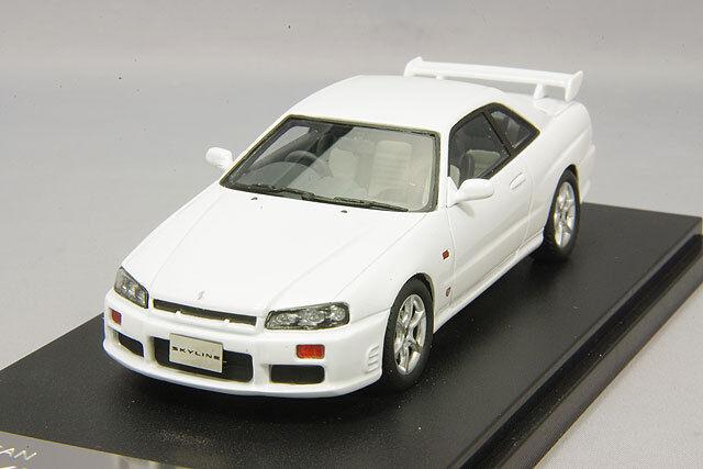compras online de deportes 1 43 Hi-Story gico Nissan Skyline 25GT Turbo Turbo Turbo ER34 Gtt 1998 blancoo HS156WH  te hará satisfecho