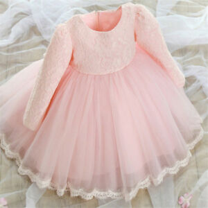 Nuovo-abito-bambina-battesimo-cerimonia-feste-tutu-compleanno-girl-party-dress