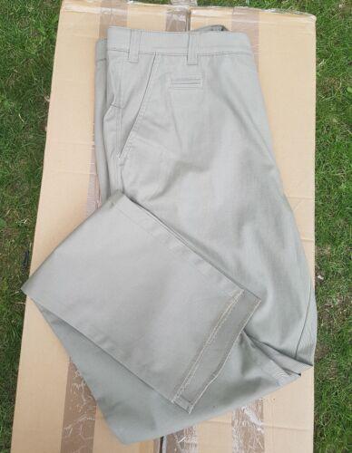 da taglia vita taglio chino cotone Pantaloni in 32 verde uomo slim taglia elasticizzati a 8FBxwC