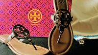 Tory Burch Miller Sandals 6 6.5 9 9.5 10 Chocolate Brown Leather Sandal