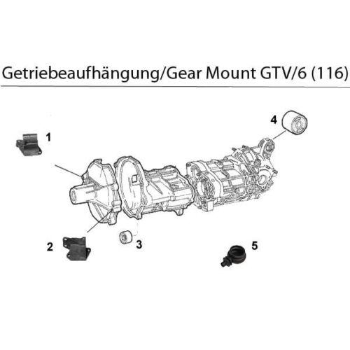 CUSCINETTI INGRANAGGI destra-Right GEARBOX Mount ALFA GTV 6 2,5 anno 1980-1987