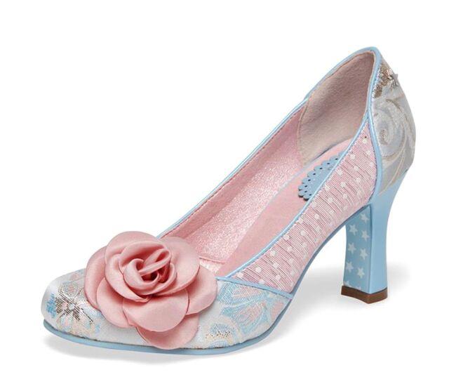 Joe Browns NEW Isabella pink blue floral high heel court shoes sizes 3-8 UK
