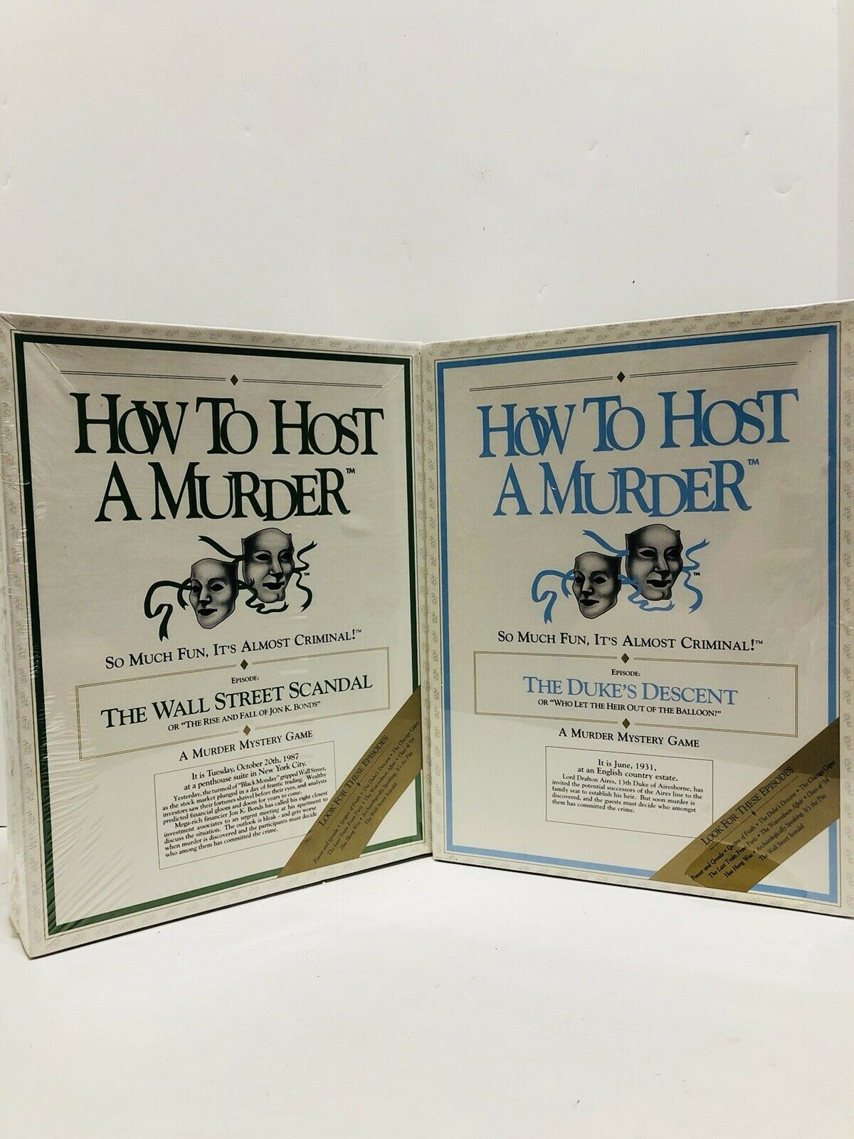 LOT NEW HOW TO HOST A MURDER THE DUKE'S DESCENT, THE WALL STREET SCANDAL MYSTERY